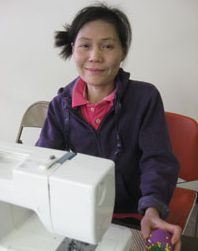 A student and her machine