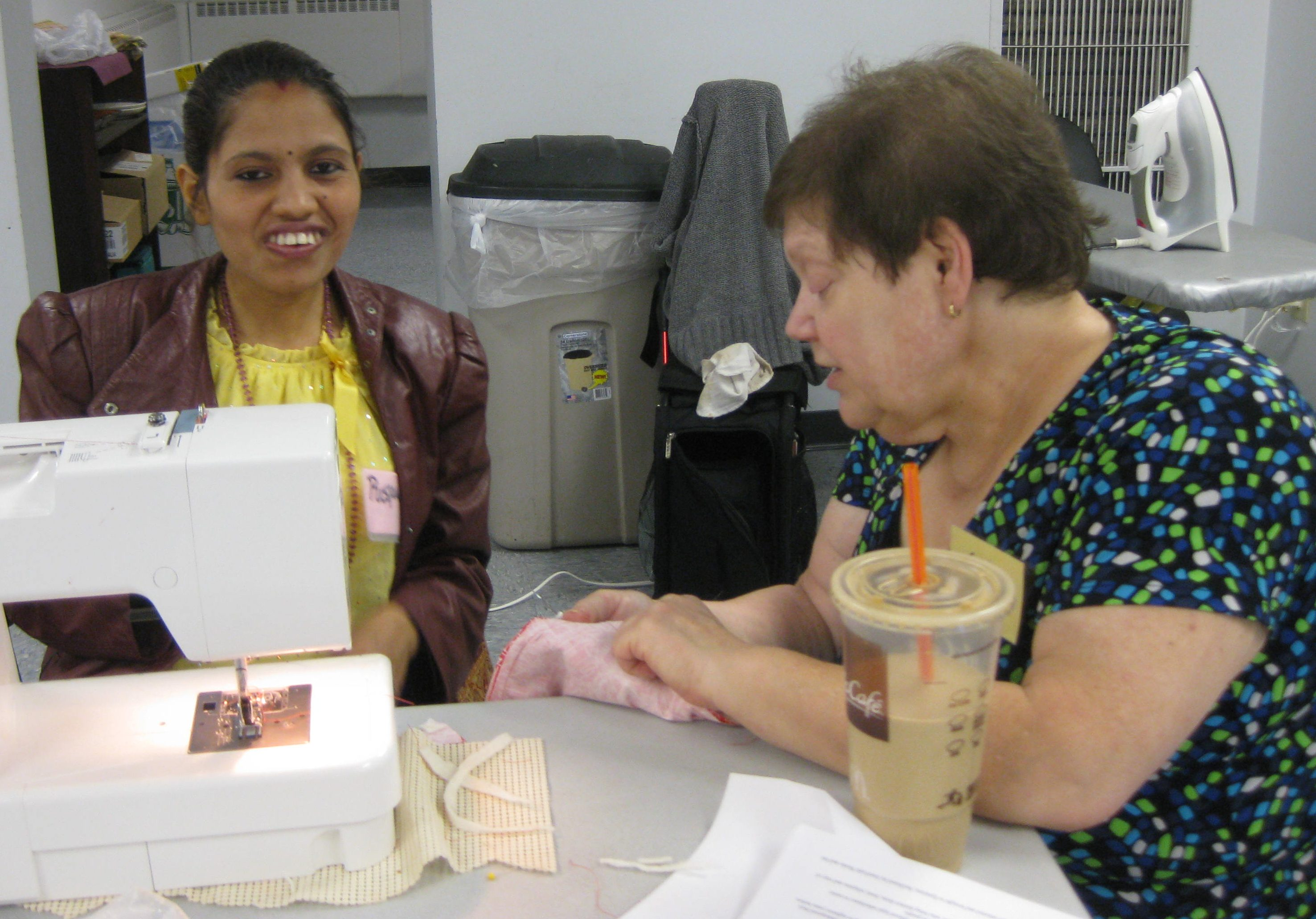 Sewing class - consulting on a project