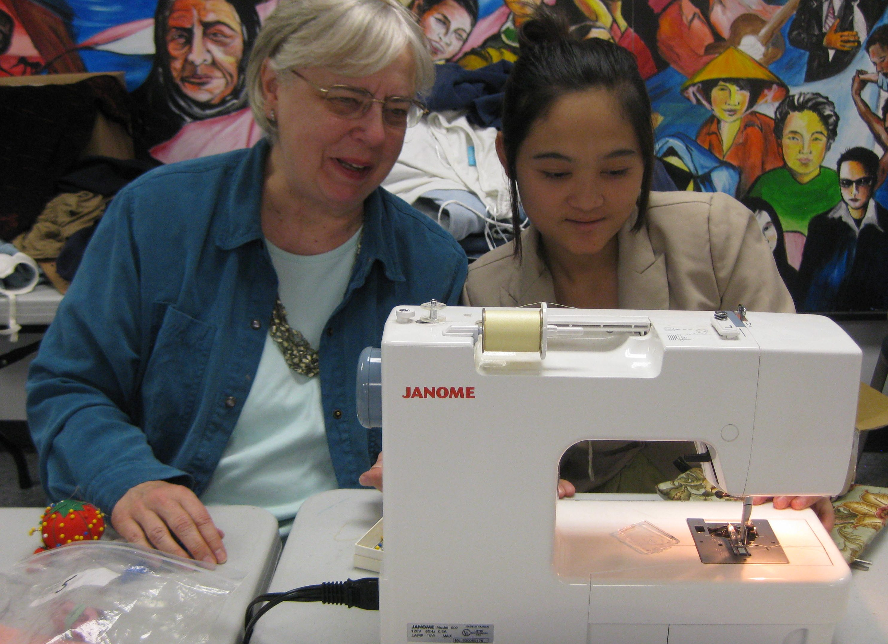 Sewing class - getting to know the machine
