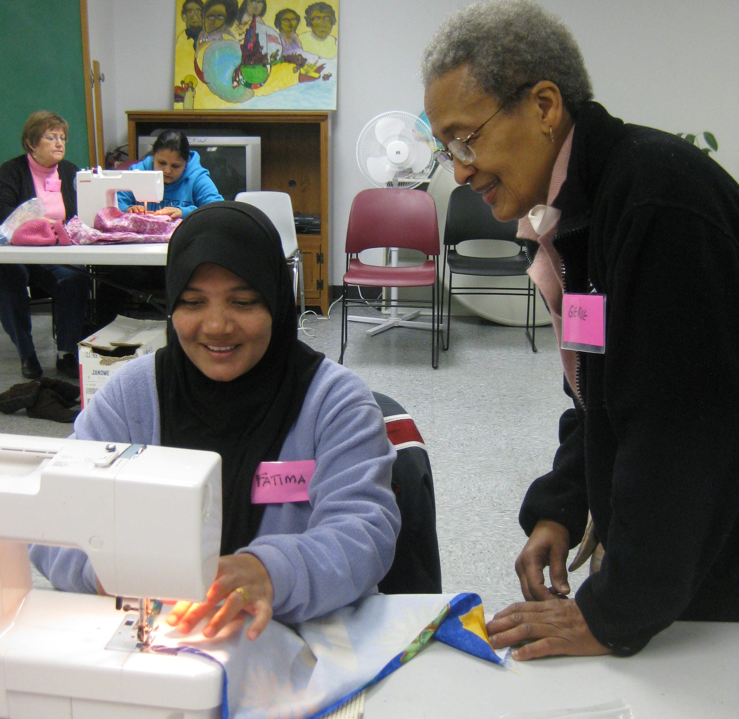 Sewing class - sewing a seam