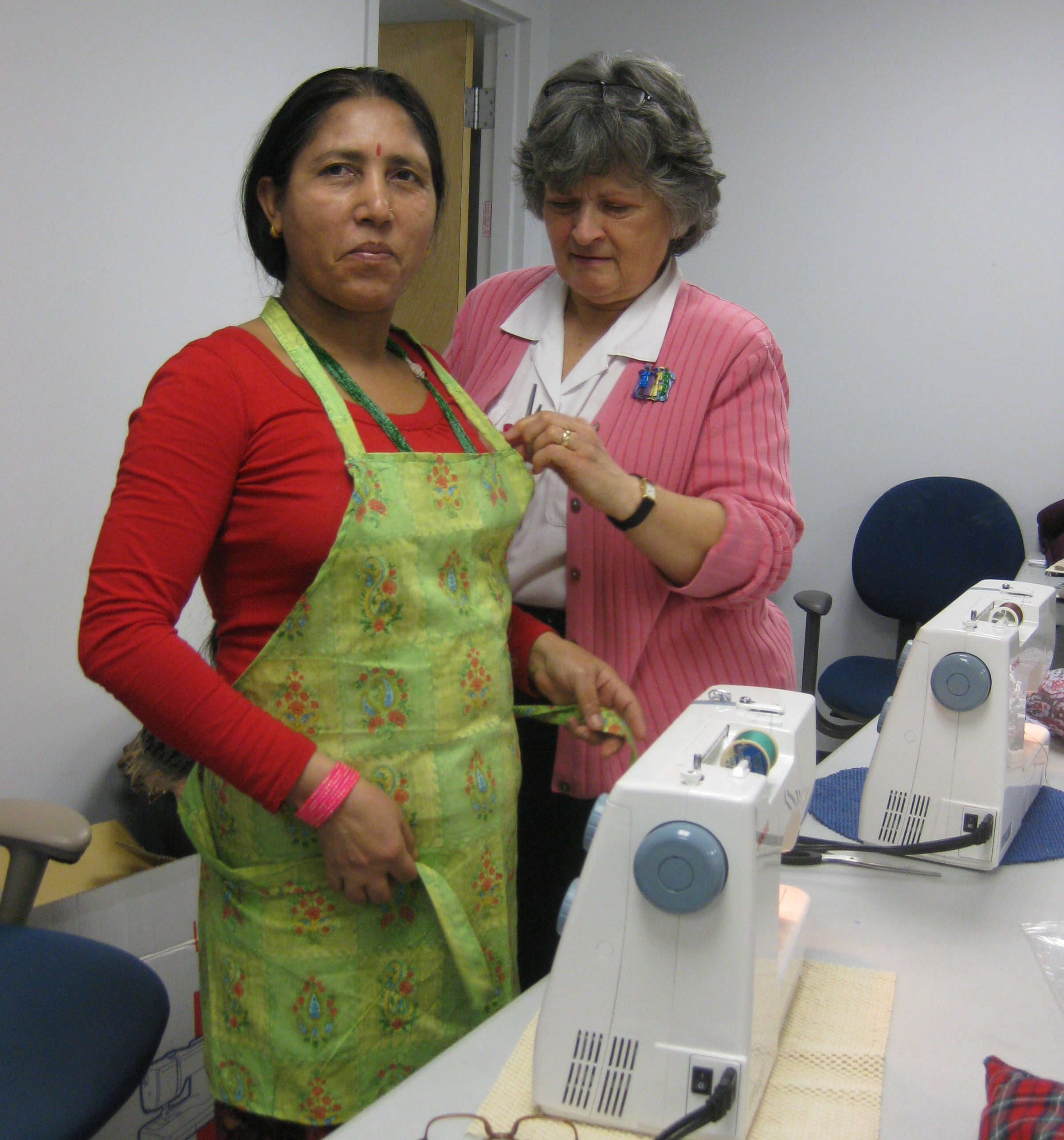 Sewing class - Checking the fit