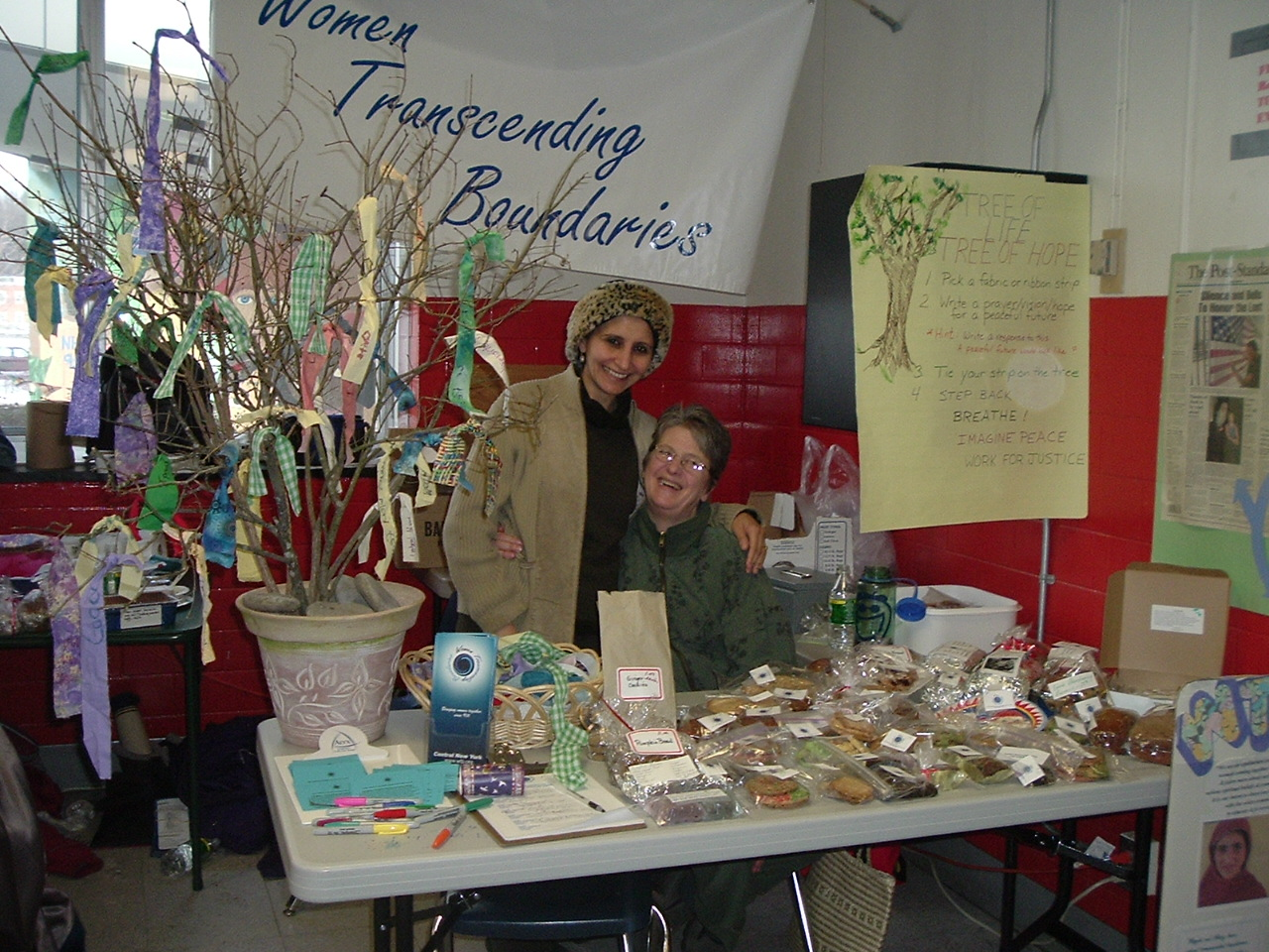 Plowshares booth
