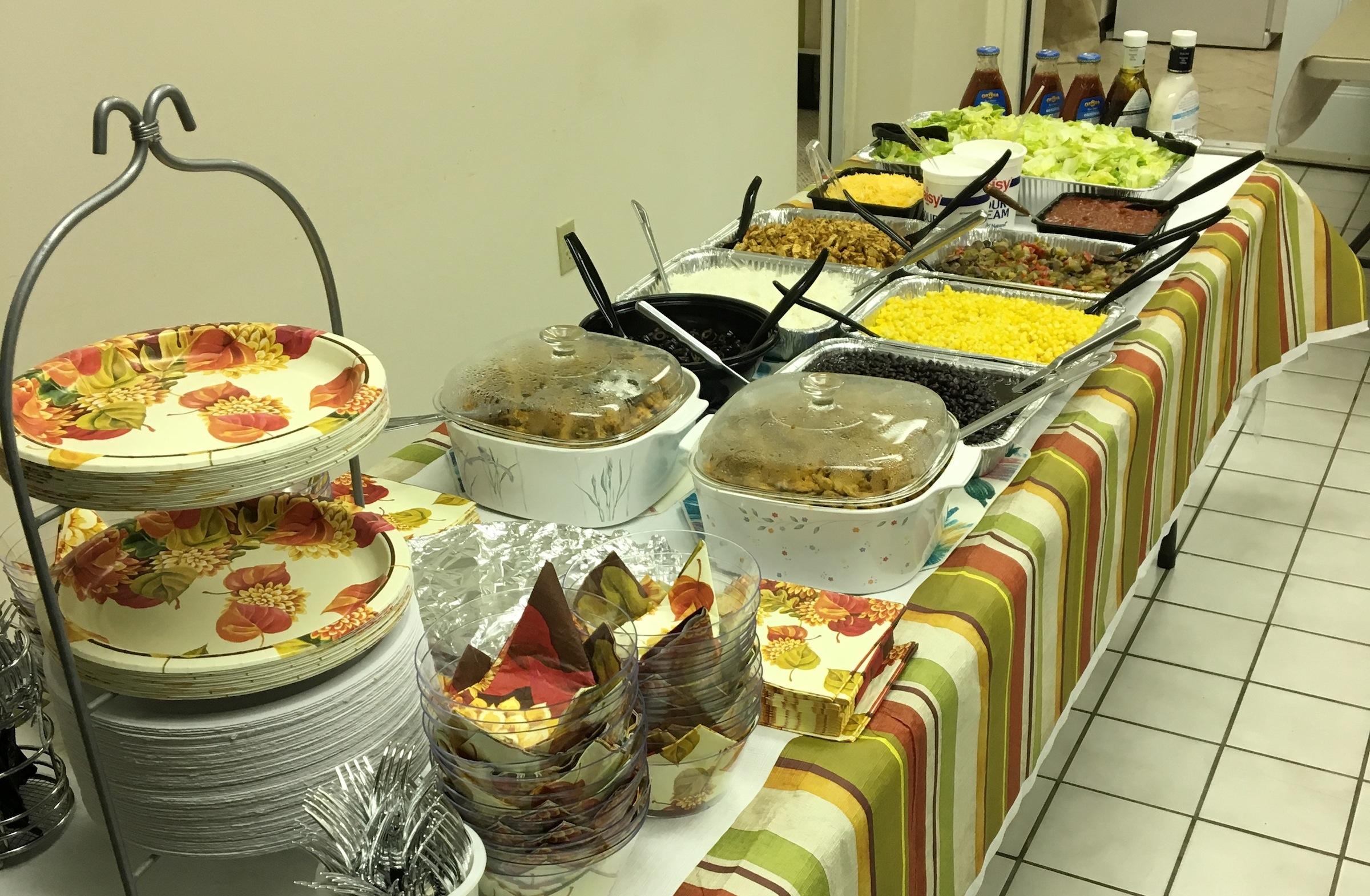 Ahmadiyya mosque buffet