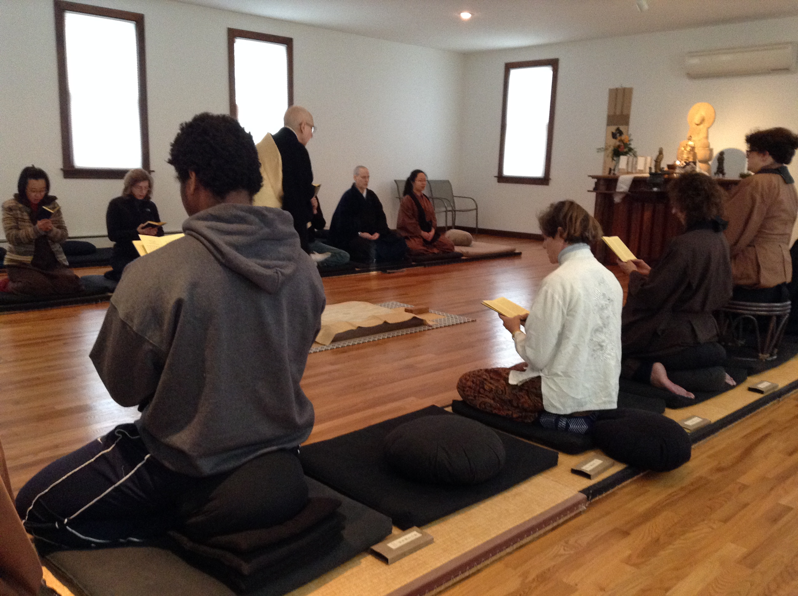 Zen Center visit - joining in meditation