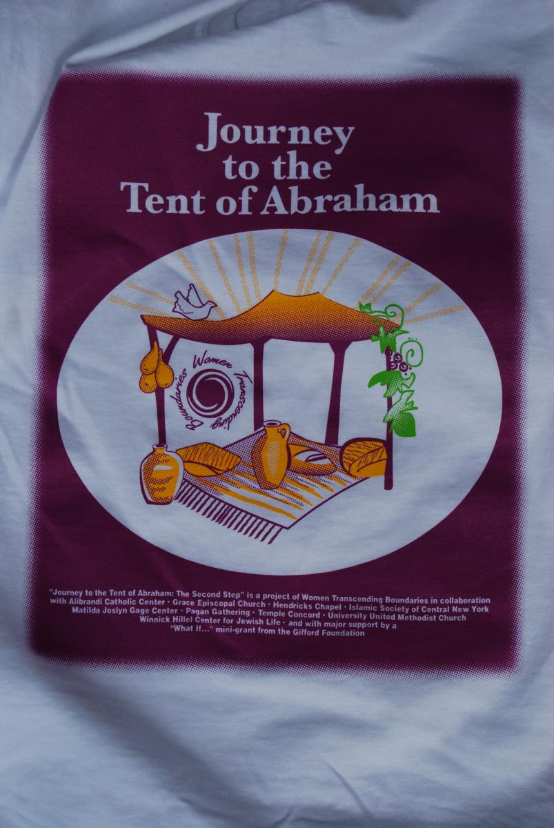 A symbolic tent of Abraham open on all sides to welcome everyone