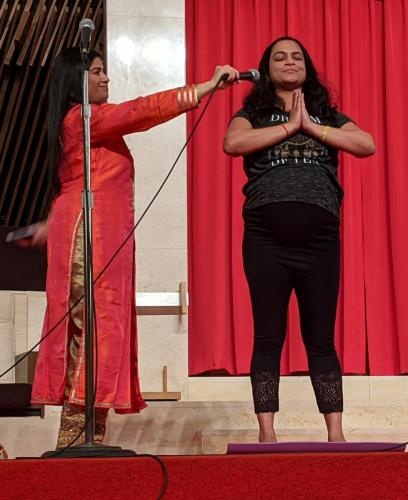 Hindu Students Association Syracuse University - yoga demonstration
