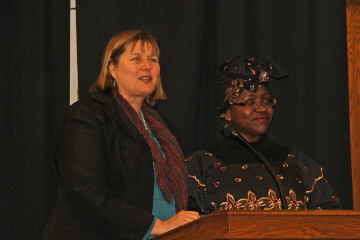 Welcome by Beth Broadway of InterFaith Works and Edith Washington of Women Transcending Boundaries