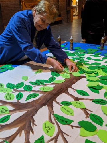 Placing leaves on a symbolic tree